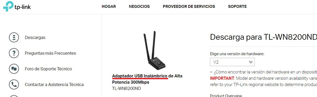 Desconexión aleatoria de adaptador Tp Link TL-WN8200ND Win10