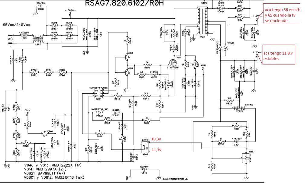 Solucionado  Telefunken Tkle 3215d  I C  De Fuente
