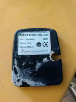 imagen adjunta de Bomba sumergible de aire lavado portátil no arramca