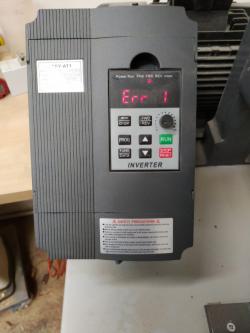 imagen adjunta de Error 1 en variador de frecuencia  de un motor de lijadora