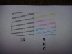 imagen adjunta de Epson L3110 color ciam imprime corrido