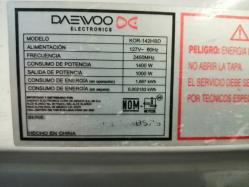 imagen adjunta de Horno de microondas mca Daewoo no clienta